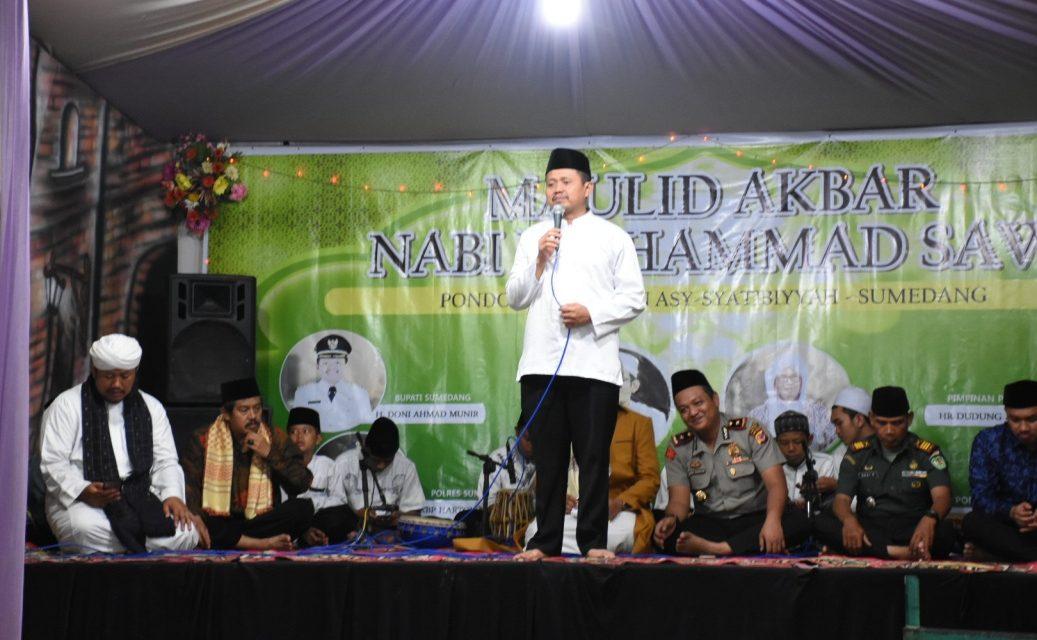 Hadiri Syukuran Asy Syatibiyyah, Bupati Dony: Mudah-Mudahan Bermanfaat bagi Umat