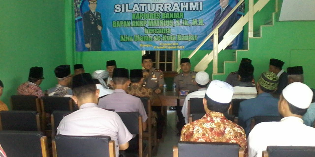 Pindah Tugas ke Purwakarta, Kapolres Banjar Pamit kepada Alim Ulama