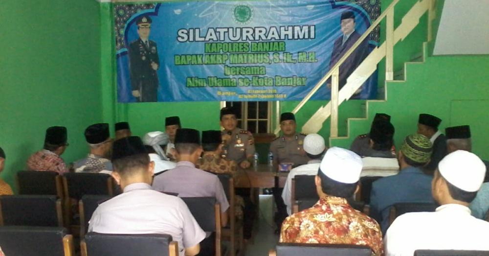 Sambangi Alim Ulama se-Kota Banjar, AKBP Matrius Pamit, AKBP Yulian Minta Doa Restu