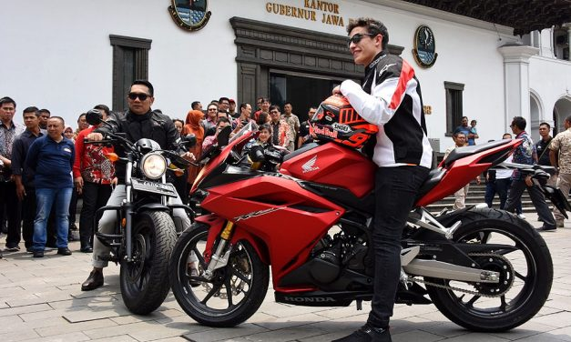 Marc Marquez 'Si Semut Merah' Sapa Penggemar di Bandung