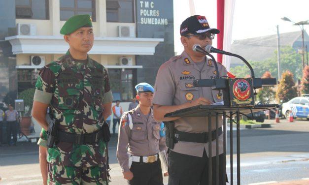 TNI/Polri di Sumedang Jamin Keamanan Pemilih saat Hari H Pencoblosan