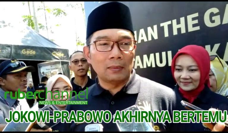 [BERITA+VIDEO] Jokowi-Prabowo Akhirnya Bertemu, Ini Kata Kang Emil