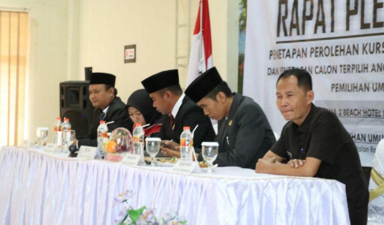 KPU Tetapkan 40 Anggota DPRD Pangandaran, PDI P Terbanyak, Perindo Paling Sedikit