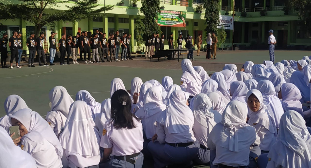 Galang Dukungan Pelajar, PSGC Ciamis Goes to School