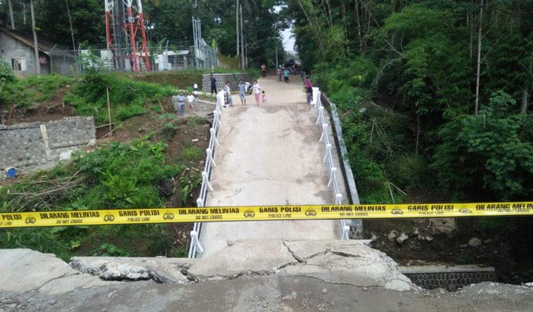 Baru Dibangun, Jembatan Rp1.2 Miliar di Boyolali Ambruk