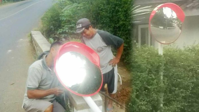 pasang convex mirror di Banjarnegara