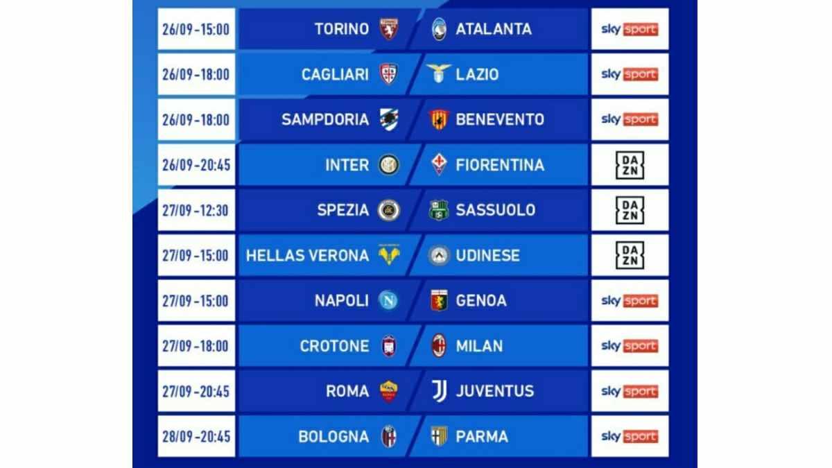 Jadwal Serie A