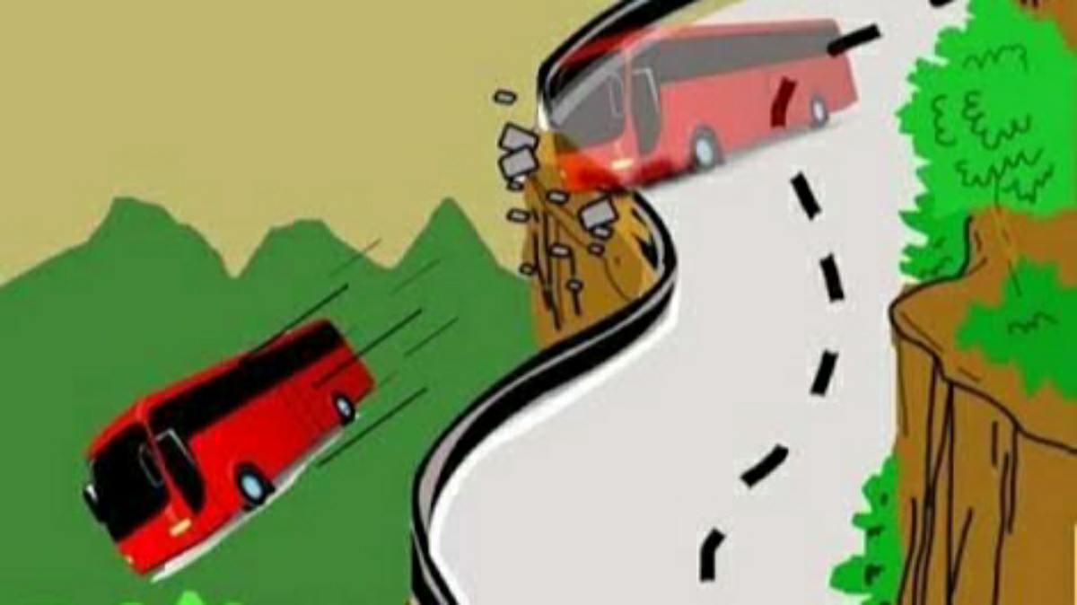 bus masuk jurang