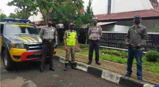 Pengamanan Gereja di Jatinangor
