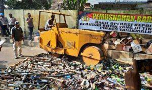 Pemusnahan barang bukti Polres Tasikmalaya Kota