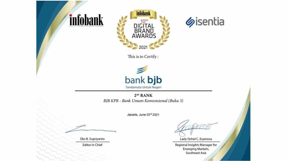 KPR Bank bjb raih penghargaan Infobank