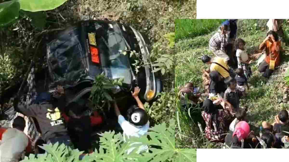 Mobil Rombongan Wisatawan Masuk jurang do Buricak Burinong Sumedang