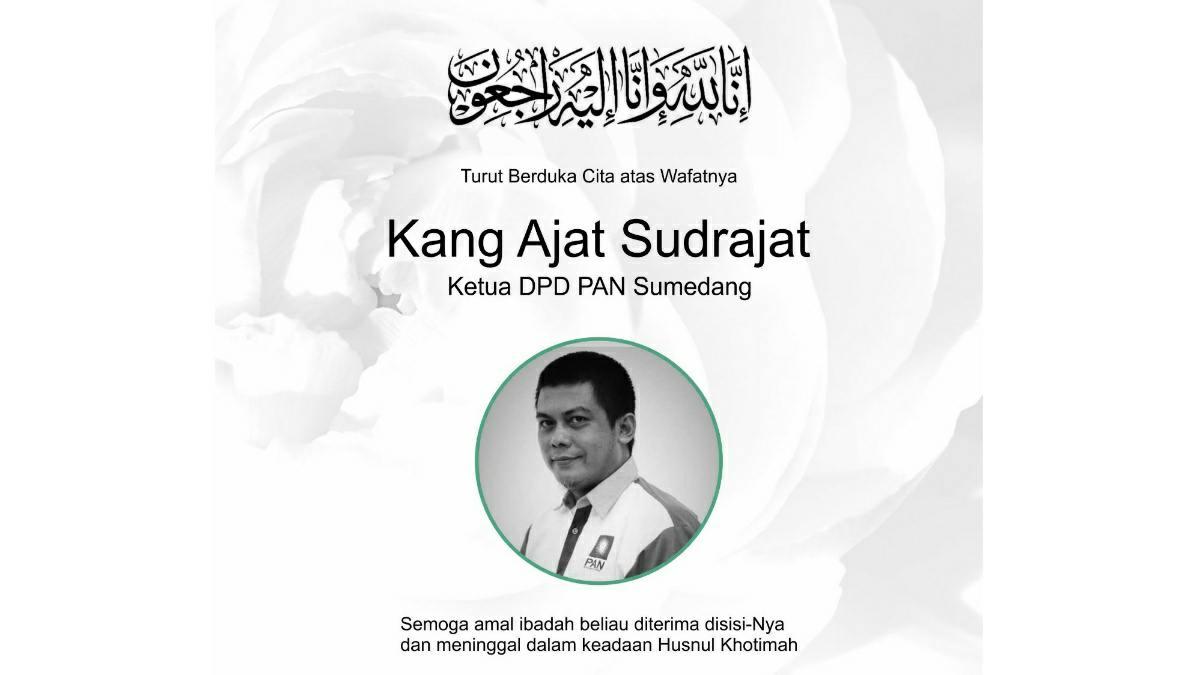 Ketua DPD PAN Sumedang Ajat Sudrajat