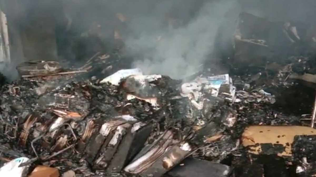 Kantor Dinas di Pangandaran Terbakar Hebat